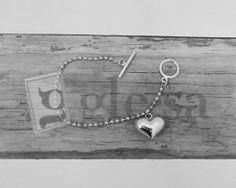 #bracciale maglia rolò con ciondolo a #cuore chiusura tipo Tiffany http://www.glesa.it/vetrine/linea_cuore_925