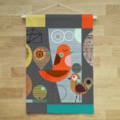 Hey, I found this really awesome Etsy listing at https://www.etsy.com/listing/449571956/little-bird-fabric-wall-hanging-banner