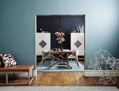Dulux denim drift for cohens feature wall