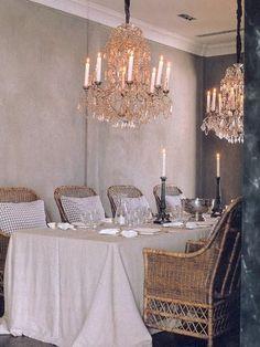 Dinig room of French summer cottage