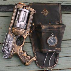 Steampunk Nerf Gun & Holster Belt