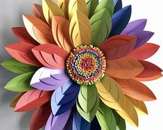 Paper Flower Wall Décor backdrop or table centrepiece Flower Wall Backdrop, Paper Flower Wall, Tissue Paper Flowers, Flower Wall Decor, Handmade Flowers, Diy Flowers, Flower Power Party, Toilet Paper Crafts, Rainbow Paper