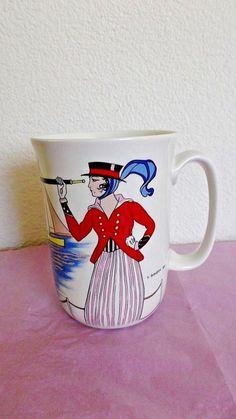 "Villeroy & Boch 4.25"" Mug, Design 199, Barbier No 3 Costume de Yacht, Luxembourg #VilleroyBoch"