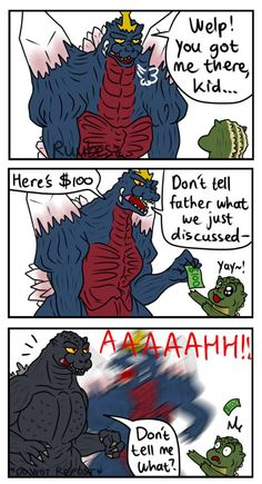 All Godzilla Monsters, Godzilla Comics, Rick And Morty Crossover, Anime Crossover, Godzilla Wallpaper, Funny Test Answers, Naruto Comic, Pokemon Funny, Mlp My Little Pony