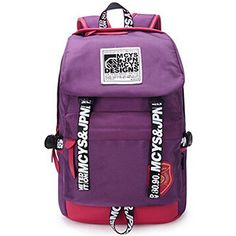 Eamarket New Leisure Backpack Students Shoulders Bag Travel Bags Purple Rose Red >>> Want additional info? Click on the image.(This is an Amazon affiliate link and I receive a commission for the sales)