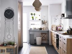 IKEA Quality furniture at affordable prices. Find everything from smart storage solutions, mattresses, textiles, wardrobes to kitchens & more. Kitchen Desk Areas, Ikea Kitchen, Kitchen Flooring, Kitchen Storage, Tall Cabinet Storage, Dark Flooring, Ikea Storage, Storage Area, Kitchen Layout