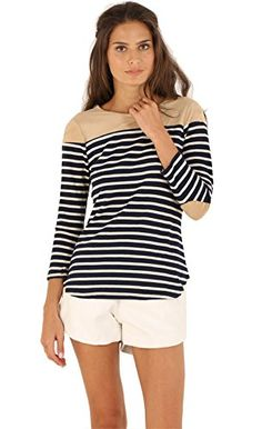Sheinside Women's White Black Long Sleeve Striped Loose T-shirt (XS, White Style) Sheinside http://www.amazon.com/dp/B015PWGKU6/ref=cm_sw_r_pi_dp_ZQcnwb12XJX90