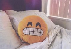 omg emoji pillows!!! need! ❤️ 》They better have the YOLO Octopus one.. juss sayin