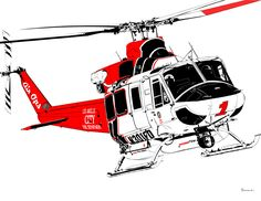 LAFD Bell 412EP Huey Bell Helicopter, Military Helicopter, Cartoon People, Cartoon Pics, Emergency Response, 911 Emergency, Chinook Helicopters, Airplane Art, Industrial Design Sketch