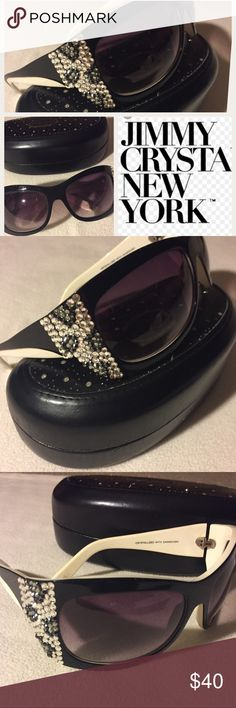 9e119632a712 Jimmy Crystal Swarovski Sunglasses Jimmy Crystal • Bling Leopard printed  sunglasses • Jimmy Crystal New York