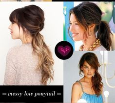 low messy ponytail - hair styles for long hair