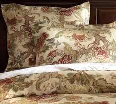 Graciela Palampore Duvet Cover & Sham | Pottery Barn. Mix with quilted cream colored pillow shams!