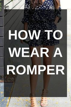 How To Wear Belts How To Wear A Romper - Discover how to make the belt the ideal complement to enhance your figure.