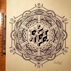Black and White Innovative Mandala Geometric Mandala Tattoo, Geometric Tattoo Design, Geometric Drawing, Mandala Tattoo Design, Mandala Drawing, Mandala Art, Mandala Pattern, Geometric Shapes, Flower Mandala