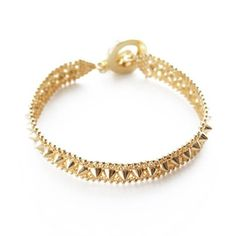 "nOir Jewelry ""My Bloody Valentine"" Small Spikes Polki Bracelet Jewelry Bracelets, Bangles, Spike Bracelet, Noir Jewelry, Tech Accessories, Wedding Day, Jewels, Engagement Rings, Chain"