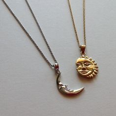 Live by the sun love of the moon. This unique sun & moon necklace set Live by the sun love of the moon. This unique sun & moon necklace set The post Live by the sun love of the moon. This unique sun & moon necklace set appeared first on Star Elite. Moon Jewelry, Cute Jewelry, Jewelry Sets, Jewelry Accessories, Jewelry Necklaces, Diamond Necklaces, Jewlery, Bohemian Jewelry, Baby Jewelry