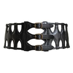 1stdibs - AZZEDINE ALAIA black leather caged corset belt explore items from 1,700  global dealers at 1stdibs.com