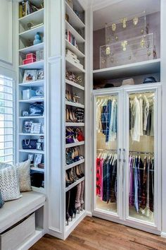 I'd say this is a closet from heaven. It even has a light. However, probably higher than I could ever deal with.