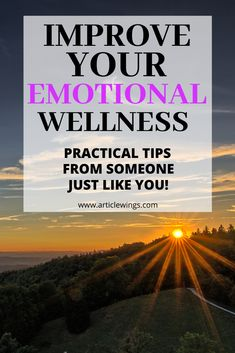 How to improve your emotional wellness. Learn practical tips on how to improve your emotional wellness from someone who has been there and done it. If you are going through some emotional hurdles, you need to read this article now. How To Better Yourself, Improve Yourself, Healing Quotes, How To Become Rich, Motivational Videos, Emotional Healing, Hurdles, Negative Emotions, Wellness Tips