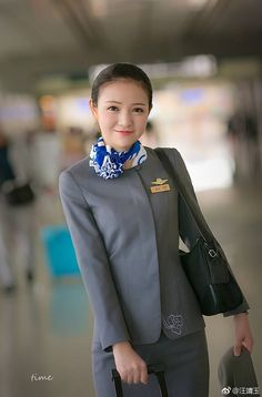 Okay Airways Cabin Crew Airline Uniforms, Military Women, Cabin Crew, Flight Attendant, Silk Scarves, Pretty Woman, Pilot, Sensible Shoes, Lady