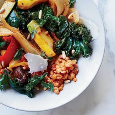 Vegetable Farro Stew with Figs and Pine Nuts | Food