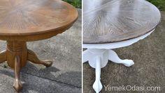 ESKİ YEMEK MASALARINI YENİLEME Yemek masalarımızı, tamir sonrası boyama işlemi uygulayarak yemek odalarımızı bahar dekorasyonuna hazırlıyoruz. Seçtiğimiz projeleri sizlerde evlerinizde yemek masalarına uyarlayabilir, yemek odası dekorasyonunu yenileyebilirsiniz. Yemek Masası ve Sandalyelere Makyaj ÖNCE    Sağlam fakat oldu http://www.yemekodasi.com/eski-yemek-masalarini-yenileme/  #EskiMasalarıYenileme, #YemekMasasınıBoyama, #YemekMasasınıYen
