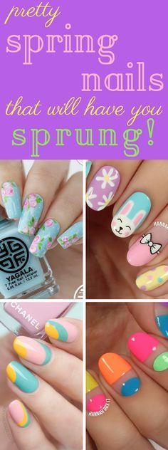 Spring Nails | 10 Spring Nail Designs That'll Have You Sprung #spring #nails #nailart #easter