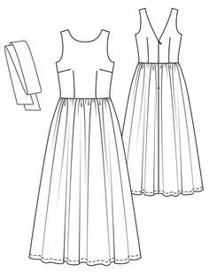 Burda dress sewing pattern wedding prom evening gown classic vintage retro style