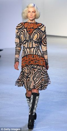 I love this concept, and how the dress has incorporated aboriginal design with a modern fashion style
