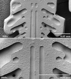 Microscopic snowflake, I didn't know God built in strait lines.