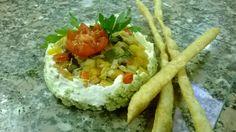 Cheescake di robiola con verdure Cheescake with vegetables