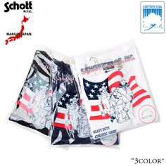 Schottショット3163034ヘンリーネックパックTシャツ