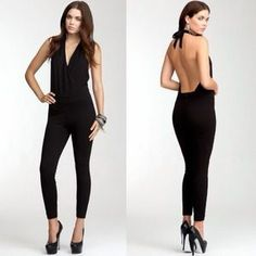 I just discovered this while shopping on Poshmark: Bebe Ponte Halter Neck Jumpsuit. Check it out!  Size: S