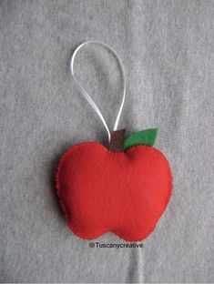 Excited to share this item from my shop: Apple Christmas Ornament Jesse Tree Ornaments, Felt Christmas Ornaments, Christmas Ideas, Christmas Decor, Christmas Tree, Black Tees, Diy Gifts, Handmade Gifts, Textiles