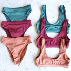 kylie sporty swim top + banded high waist high cut cheeky bottom - separates - more colors