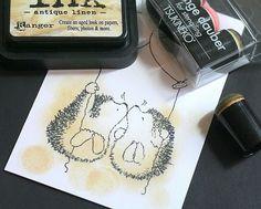 Distress inks & dauber colouring tut! by Alli B