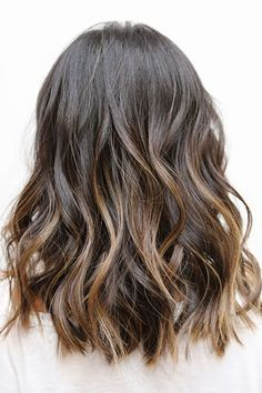 50 haircuts to copy right now | wavy hair with sombré highlights