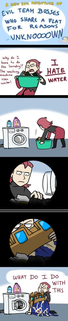 Maxie does laundry. WHAT DO I DO WITH THIS!