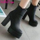 Autumn Womens Ankle Boots Combat Chunky Heels Elastic Boots Shoes Big Size - Black Boot - Ideas of Black Boot - Autumn Womens Ankle Boots Combat Chunky Heels Elastic Boots Shoes Big Size Price : Chunky Heel Ankle Boots, Chunky High Heels, Black High Heels, Black Ankle Boots, High Heel Boots, Ankle Booties, Heeled Boots, Shoe Boots, Black 7