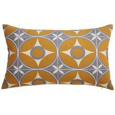 Kissen aus Baumwolle mit grauen und gelben Motiven 30x40cm SUZANNE