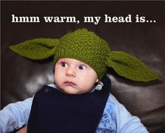 Yoda beanie, this is. ADORABLE!