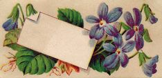 Vintage Graphic - Violets Calling Card - The Graphics Fairy