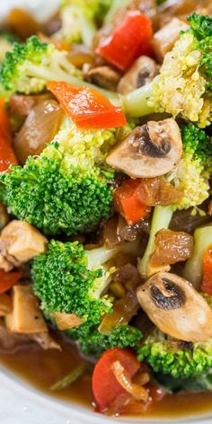 Skinny Broccoli and Mixed Vegetable Stir Fry - Skip takeout and make your own fast, easy, and healthy stir fry! Think of all the money and calories you'll save!!