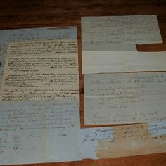 Set of Six 19th Century Letters, Chits, and Invoices from Woodstock, Maine.