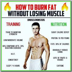 How to Burn Fat By _ Losing weight is easy: eat less and move more. Burning fat while maintaining muscle tissue on the other hand is a little more complicated. _ Gradual Calorie Deficit: The first thing most dieters do when entering a cutt Weight Training Workouts, Gym Workout Tips, Planning Sport, Healthy Smoothie, Weight Loss Tips, Losing Weight, Lose Body Fat, Lose Belly Fat Men, Trainer