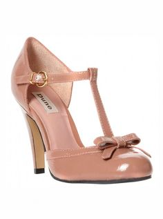 Dune Candstorm Patent Tbar Bow Trim Court Shoe, £68