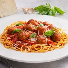 Classic Meatballs and Spaghetti Recipe from our friends at Johnsonville®