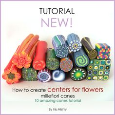 How to create centers millefiori canes - 10 amazing centers canes tutorial | Flickr - Photo Sharing!