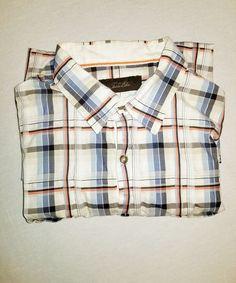 e11e248a5e05b4 Tasso Elba SPA Men s Size XL Button Front Striped Shirt Short Sleeve Cotton  A21