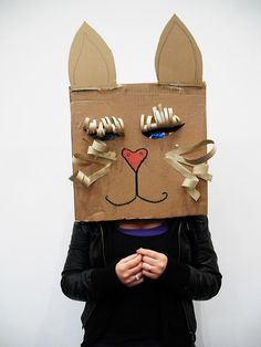Student (working with communities) Cardboard Masks by Hazel Terry, via Flickr